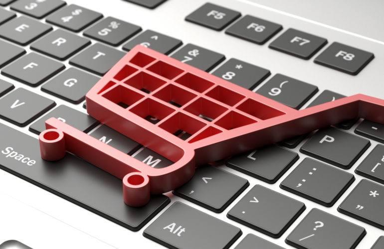 brand | e commerce symbol on a computer keyboard black fri PV7TGNB